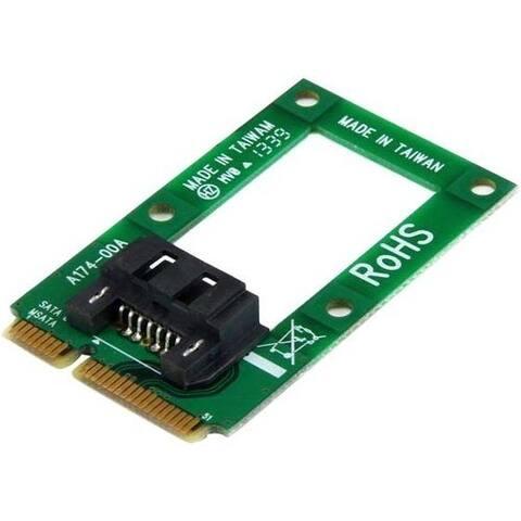 StarTech.com mSATA to SATA HDD / SSD Adapter - Mini SATA to SATA Converter Card
