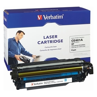 Verbatim HP CE401A Cyan Remanufactured Laser Toner Cartridge - TAA Co