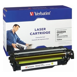 Verbatim HP CE402A Yellow Remanufactured Laser Toner Cartridge - TAA