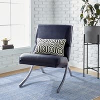 Clay Alder Home Manchester Navy Bonded Leather Chair