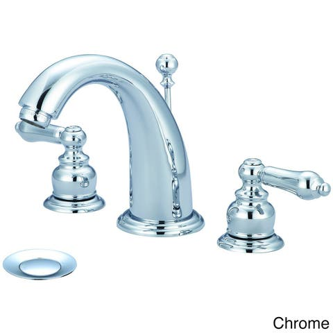Brentwood 2 Handle Widespread Bath Faucet with Metal Handle Levers