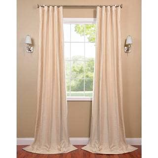 Exclusive Fabrics Pearl White Hand-Woven Cotton-blend Curtain Panel