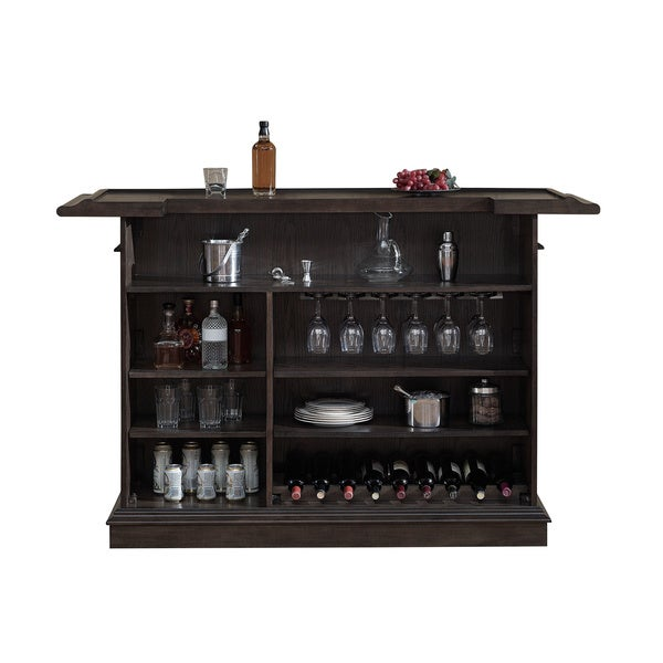 Home Bars For Sale: Shop Sylvester Brown Oak Wood Mini Bar