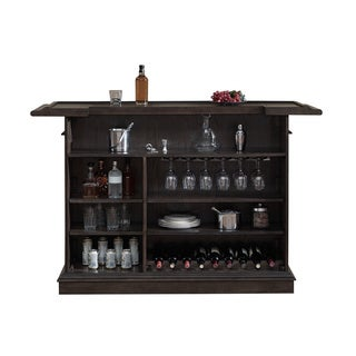 Sylvester Brown Oak Wood Mini Bar