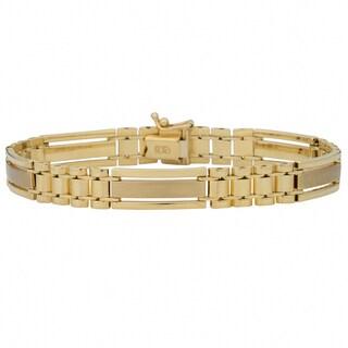 Fremada 10k Yellow Gold 8.3-mm Designer Men's Bracelet (8.5 inch)