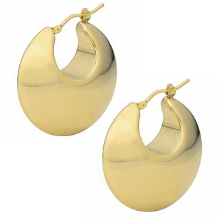 Oro Forte 14k Yellow Gold Polished Graduated Round Hoop Earrings