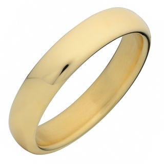 Oro Forte 14k Yellow Gold Polished Wide Round Bangle Bracelet