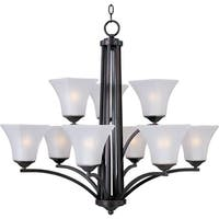 Maxim Aurora 9-light Multi-tier Chandelier