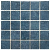 SomerTile 12x12-inch Paradise Beach Blue Porcelain Mosaic Floor and Wall Tile (10 tiles/10.21 sqft.)