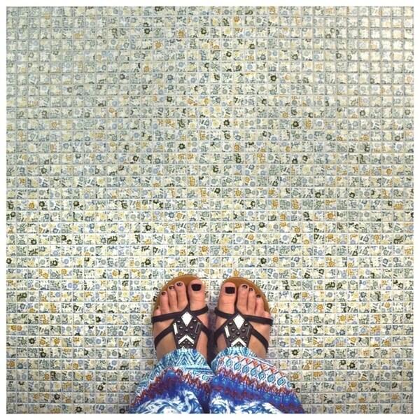 SomerTile 12x12-inch Spring Flora Porcelain Mosaic Floor and Wall Tile (10 tiles/10.21 sqft.)