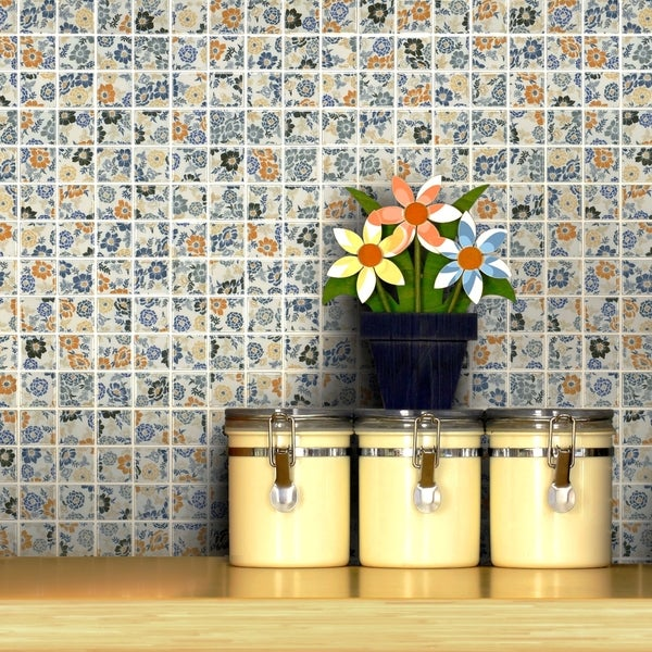 SomerTile 12x12-inch Spring Flora Porcelain Mosaic Floor and Wall Tile (Case of 10)
