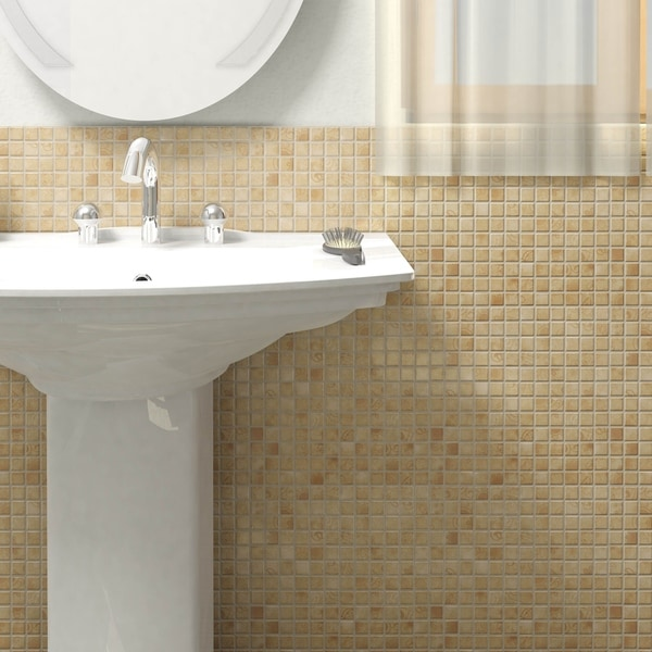 SomerTile 11.625x11.625-inch Lace Beige Porcelain Mosaic Floor and Wall Tile (Case of 10)
