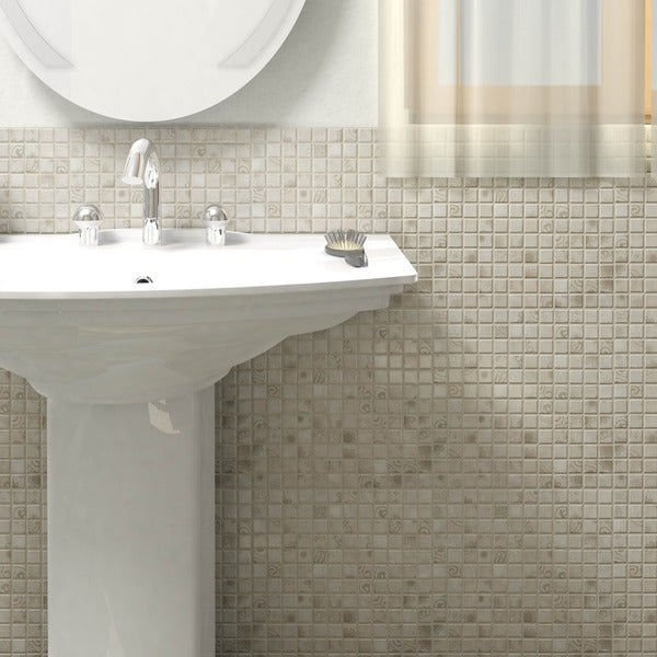 Somertile 12x12 inch lace grey porcelain mosaic floor and for 10 inch floor tiles