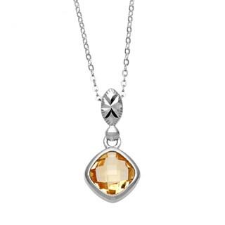 La Preciosa Sterling Silver Citrine Gemstone Pendant