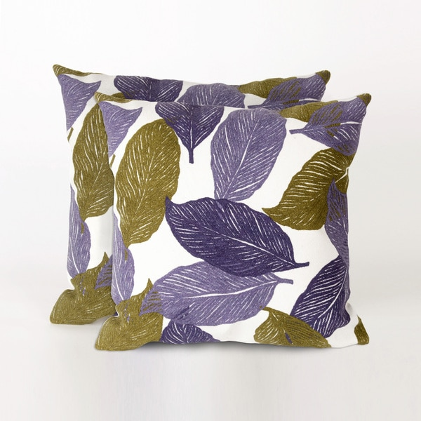Cut Leaves 20-inch Throw Pillows (Set of 2)