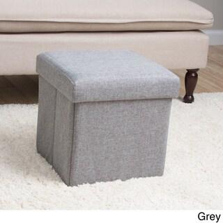 Square Folding Fabric Storage Ottoman