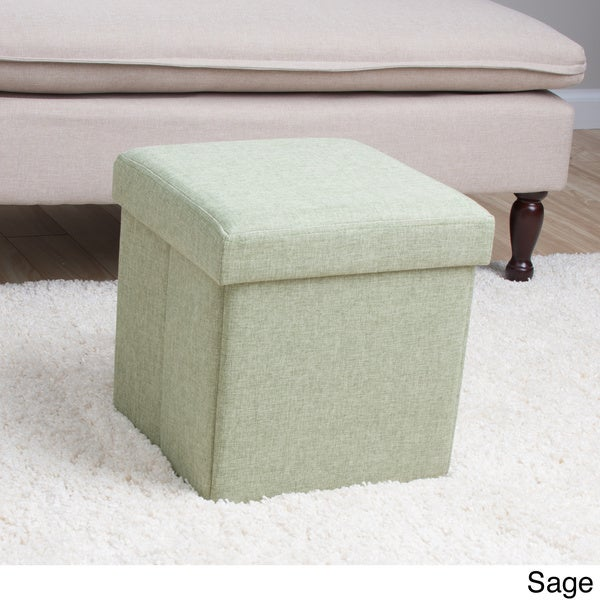 Square Folding Fabric Storage Ottoman - Square Folding Fabric Storage Ottoman - Free Shipping On Orders