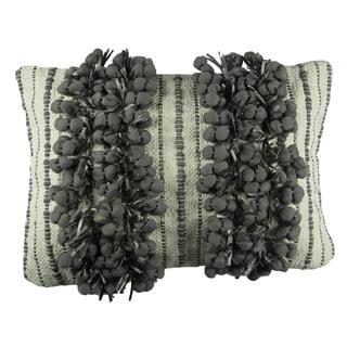 Frost Grey Fringe Decorative Pillow