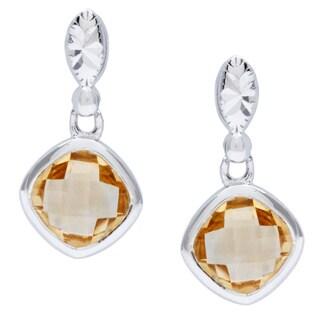 La Preciosa Sterling Silver Citrine Gemstone Earrings