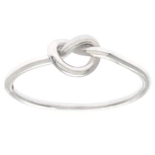 La Preciosa Sterling Silver Small Love Knot Ring