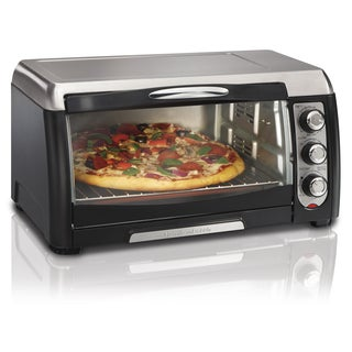 Hamilton Beach Black Stainless Steel 6-slice Convection Toaster Oven with Broiler