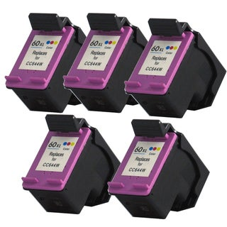 HP 60XL (CC644WN) High Yield Tri-Color Ink Cartridge (Remanufactured) (Pack of 5)