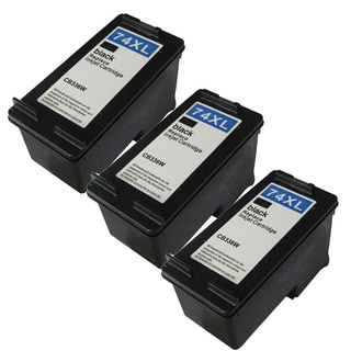 Remanufactured HP 74XL/ CB336WN High Yield Black Ink Cartridges (Pack of 3)