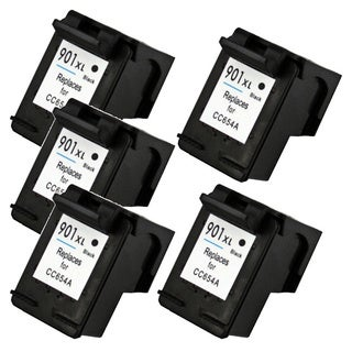 HP 901XL (CC654AN) High Yield Black Ink Cartridge (Remanufactured) (Pack of 5)