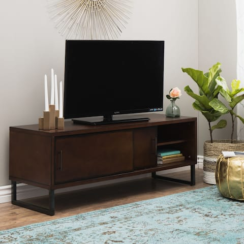 Carbon Loft 54-inch Breckenridge Walnut Entertainment Center
