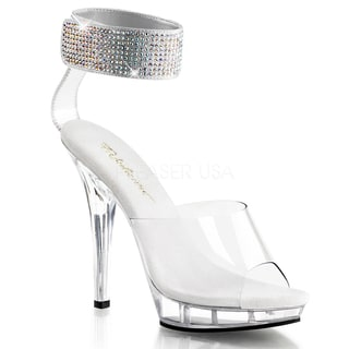 Fabulicious Women's 'Lip-142' Rhinestone Ankle Cuffed Sandals