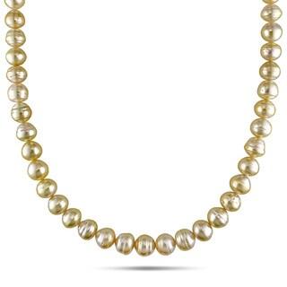 Miadora 14k Yellow Gold Golden South Sea Baroque Pearl Necklace (8-10 mm)|https://ak1.ostkcdn.com/images/products/8672309/Miadora-14k-Yellow-Gold-Golden-South-Sea-Baroque-Pearl-Necklace-8-10-mm-P15928807.jpg?_ostk_perf_=percv&impolicy=medium