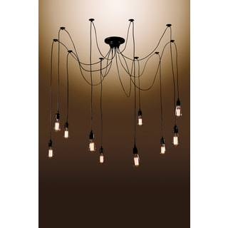 Zendaya 10-bulb Edison Chandelier with Bulbs