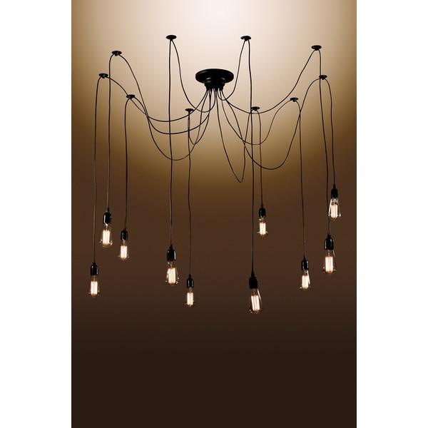 Zendaya 10-bulb Edison Chandelier with Bulbs