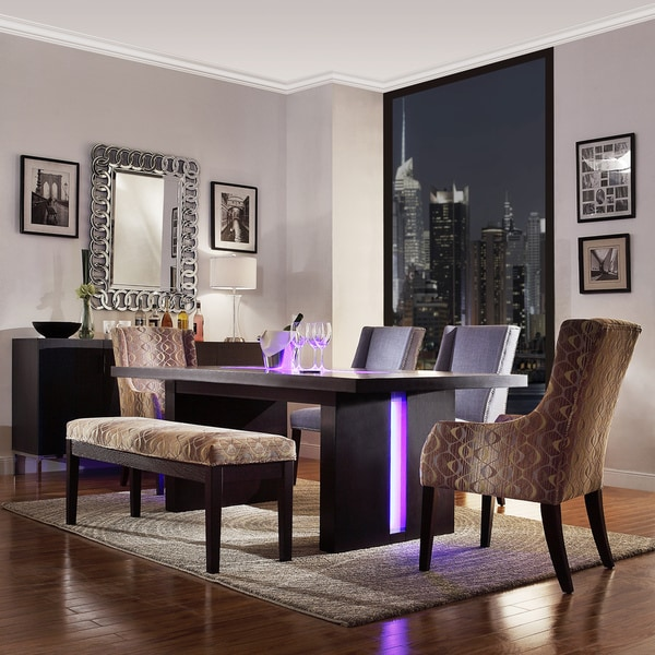 Shop Inspire Q Lorin Modern Led Light System Inlay Dining Table Free Shipping Today
