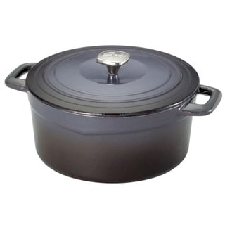 Guy Fieri Graphite 5.5-quart Cast Iron/ Porcelain Dutch Oven