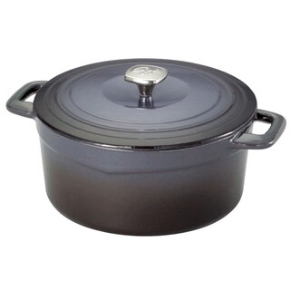 Guy Fieri Graphite 5.5-quart Cast Iron and Porcelain Dutch Oven