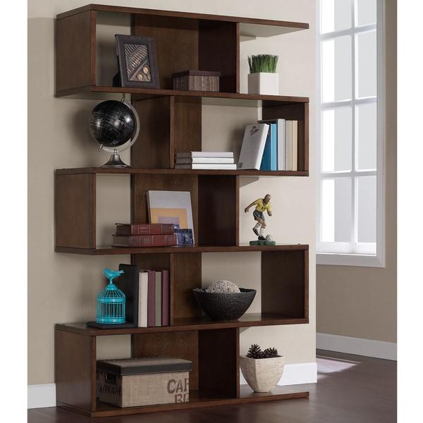 68-inch Solid Birch Veneer Bookshelf