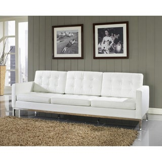 Genuine Leather Modern Loft Sofa
