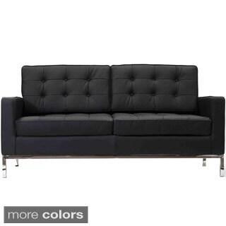 Genuine Leather Modern Loft Loveseat