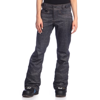 Women's Denim Jean Style Snow Pants