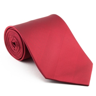 Smooth Red Tonal Stripe Neck Tie