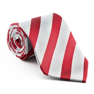 Red and White Candy Stripe Neck Tie