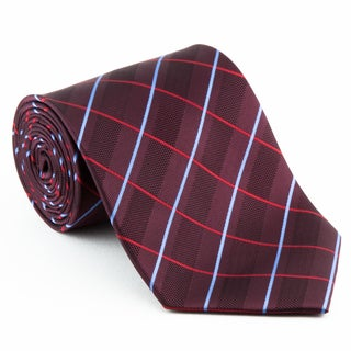 'Burgundy Circuit' Contrasting Neck Tie