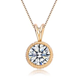 Collette Z Sterling Silver Round-cut Cubic Zirconia Necklace