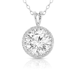 Collette Z Sterling Silver Round-cut Cubic Zirconia Necklace (2 options available)