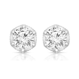 Collette Z Sterling Silver Round-cut Cubic Zirconia Stone