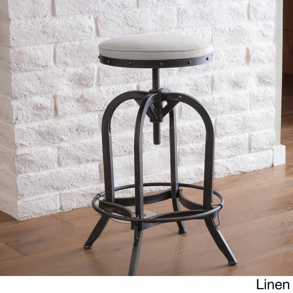 Gunner 28-inch Swivel Iron Bar Stool by Christopher Knight Home - Free Shipping Today - Overstock.com - 15929068 & Gunner 28-inch Swivel Iron Bar Stool by Christopher Knight Home ... islam-shia.org