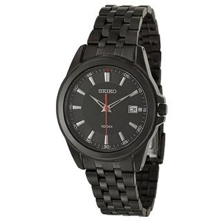 Seiko Men's 'Bracelet' Black Ion Plated Stainless Steel Japnese Quartz Watch