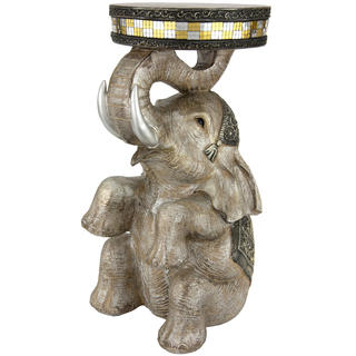 Handmade Sitting Elephant 20-inch Statue (China)