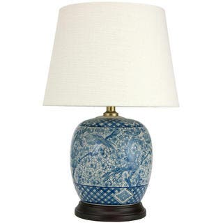 Handmade 20-inch Classic Blue and White Porcelain Jar Lamp (China)|https://ak1.ostkcdn.com/images/products/8672767/P15929169.jpg?impolicy=medium